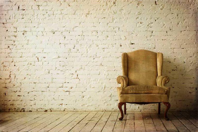 Old retro armchair