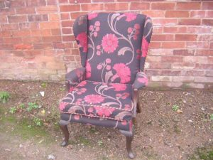 floral pink chair
